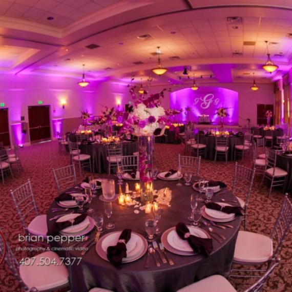 Lake-mary-events-center-Orlando-wedding-Soundwave-DJ-LED-Lighting-Purple
