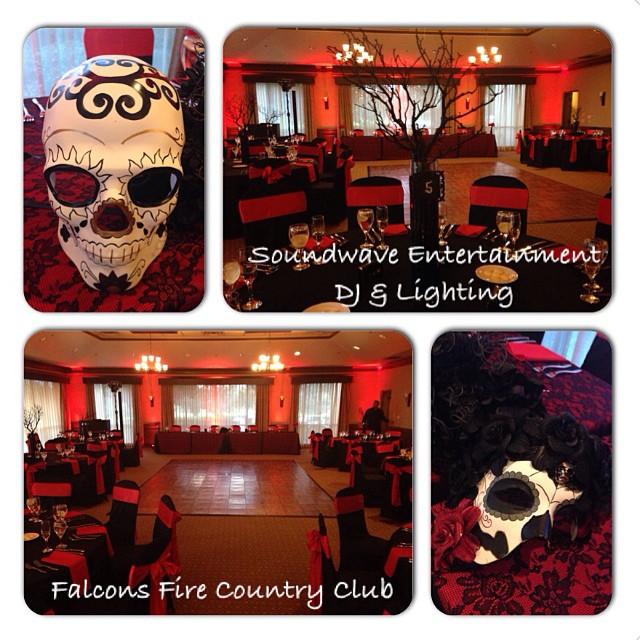 Falcons-fire-orlando-wedding-red-lighting-Soundwave-DJ-LED-Lighting