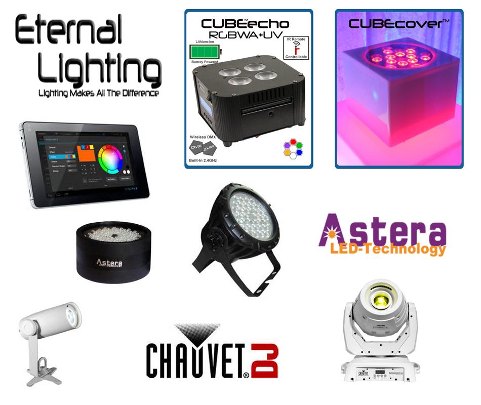 Soundwave Entertainment - Our LED Lighting Equipment - Astera, Eternal, Chauvet - Wedding DJs, Corporate Orlando DJs, Orlando, FL