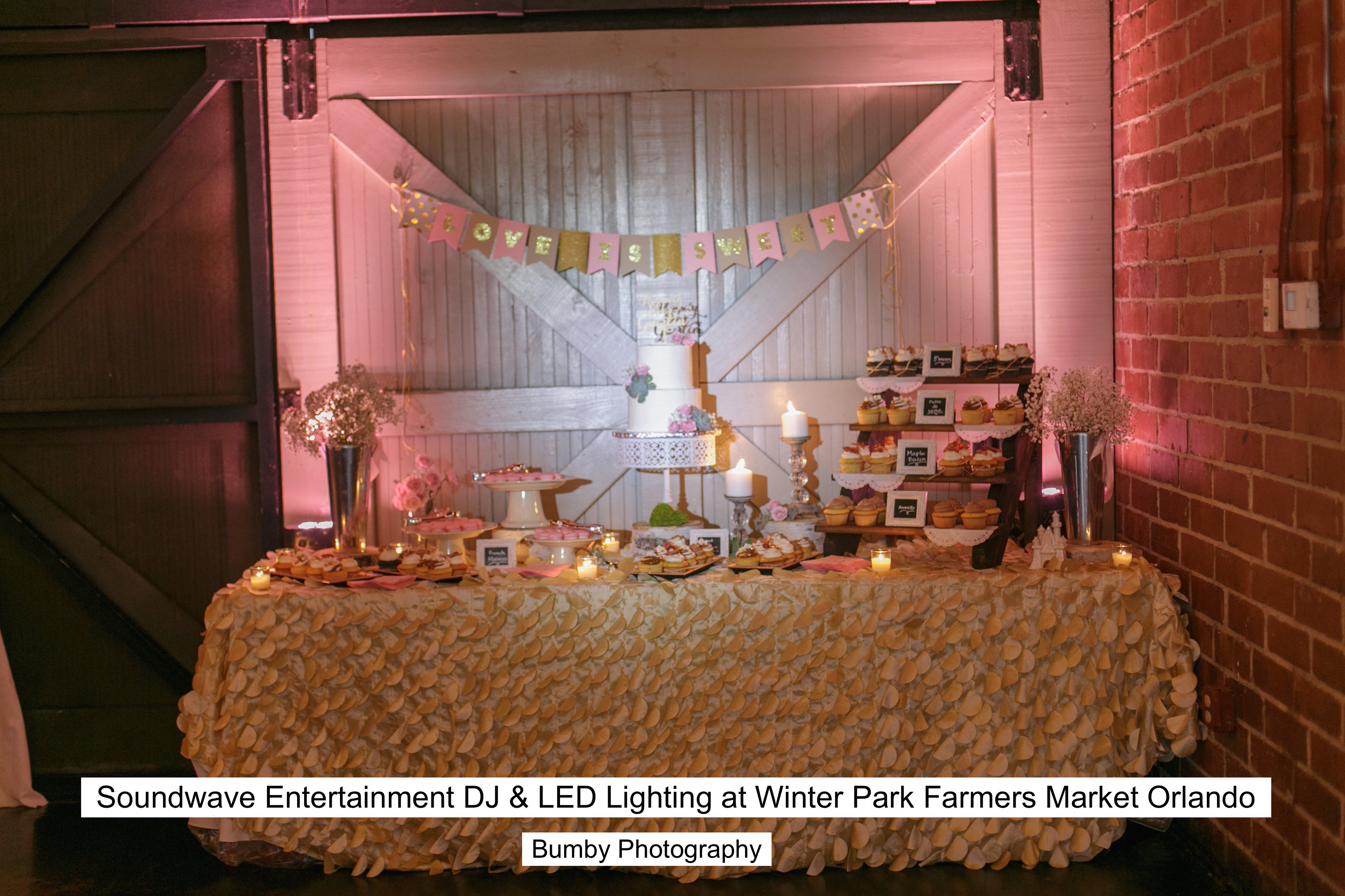 Soundwave Entertainment - Winter Park Farmers Market - Orlando Wedding DJs - LED Lighting Design - Orlando Wedding Venues