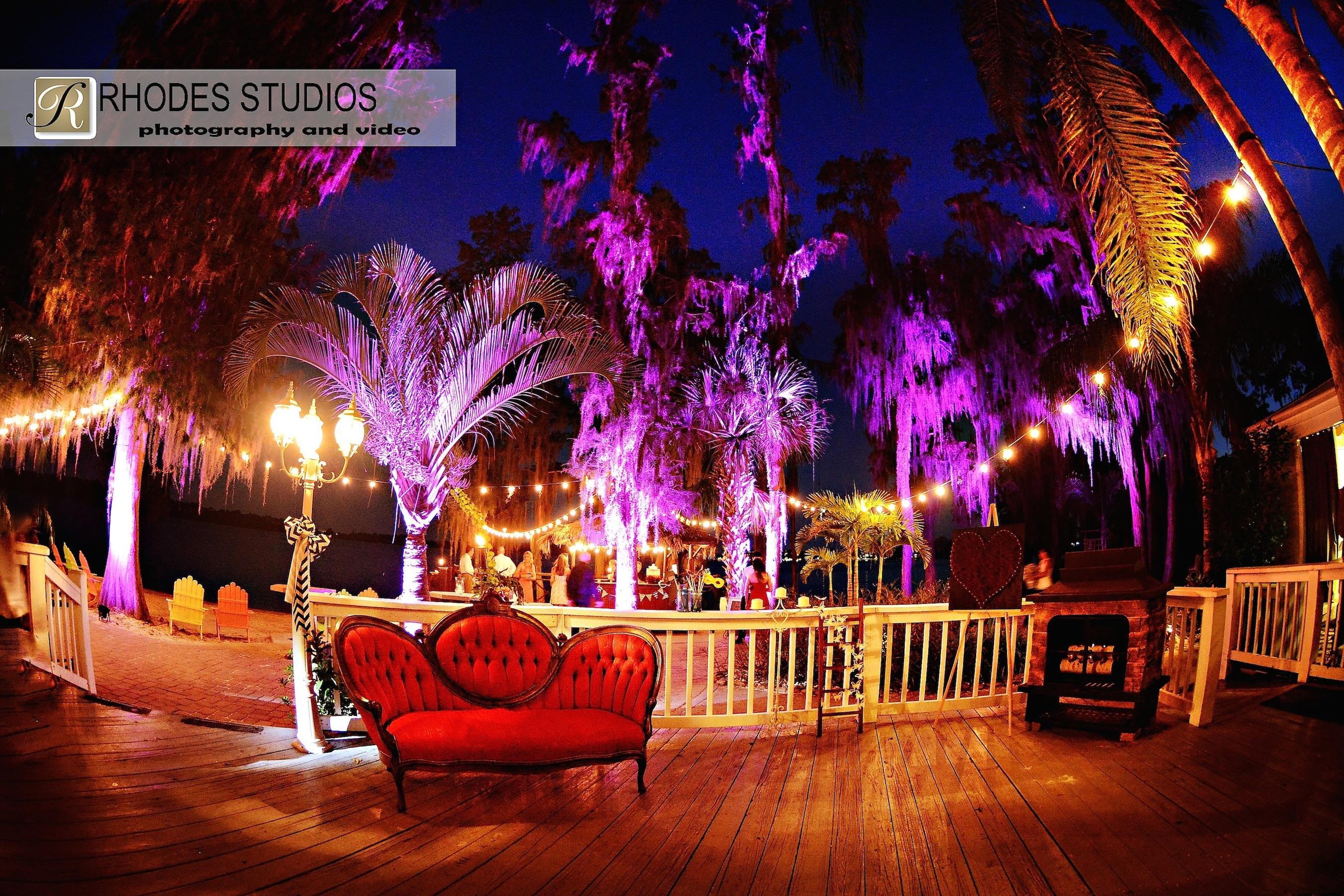Soundwave Entertainment - Paradise Cove - Orlando Wedding DJs - LED Lighting Design - Orlando Wedding Venues