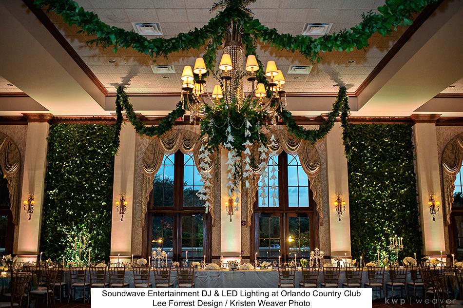 Soundwave Entertainment - Orlando Country Club - Orlando Wedding DJs - LED Lighting Design - Orlando Wedding Venues