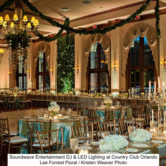 Soundwave Entertainment - Orlando Country Club - Orlando Wedding DJs - LED Lighting Design - Orlando Wedding Venues