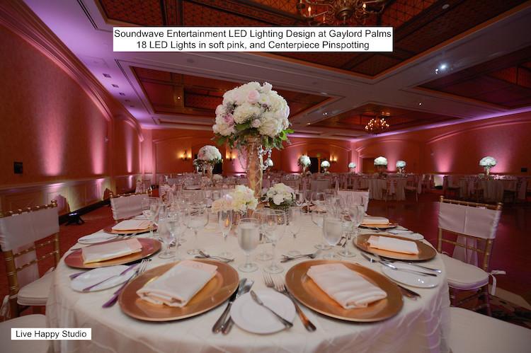 Soundwave Entertainment - Gaylord Palms - Orlando Wedding DJs - LED Lighting Design - Orlando Wedding Venues