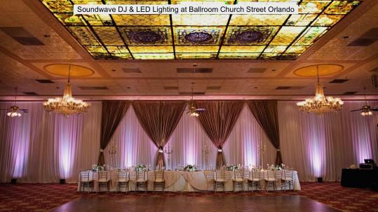 Ballroom Church Street wedding DJ led lighting Soundwave copy