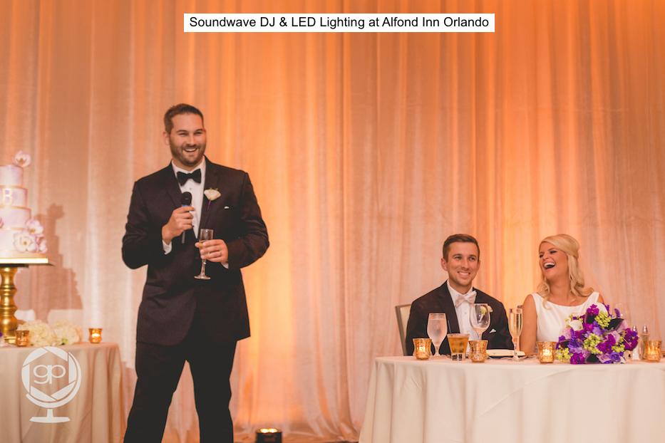 Soundwave Entertainment - Alfond IInn - Orlando Wedding Djs - Orlando Wedding Venue - LED LIghting Design