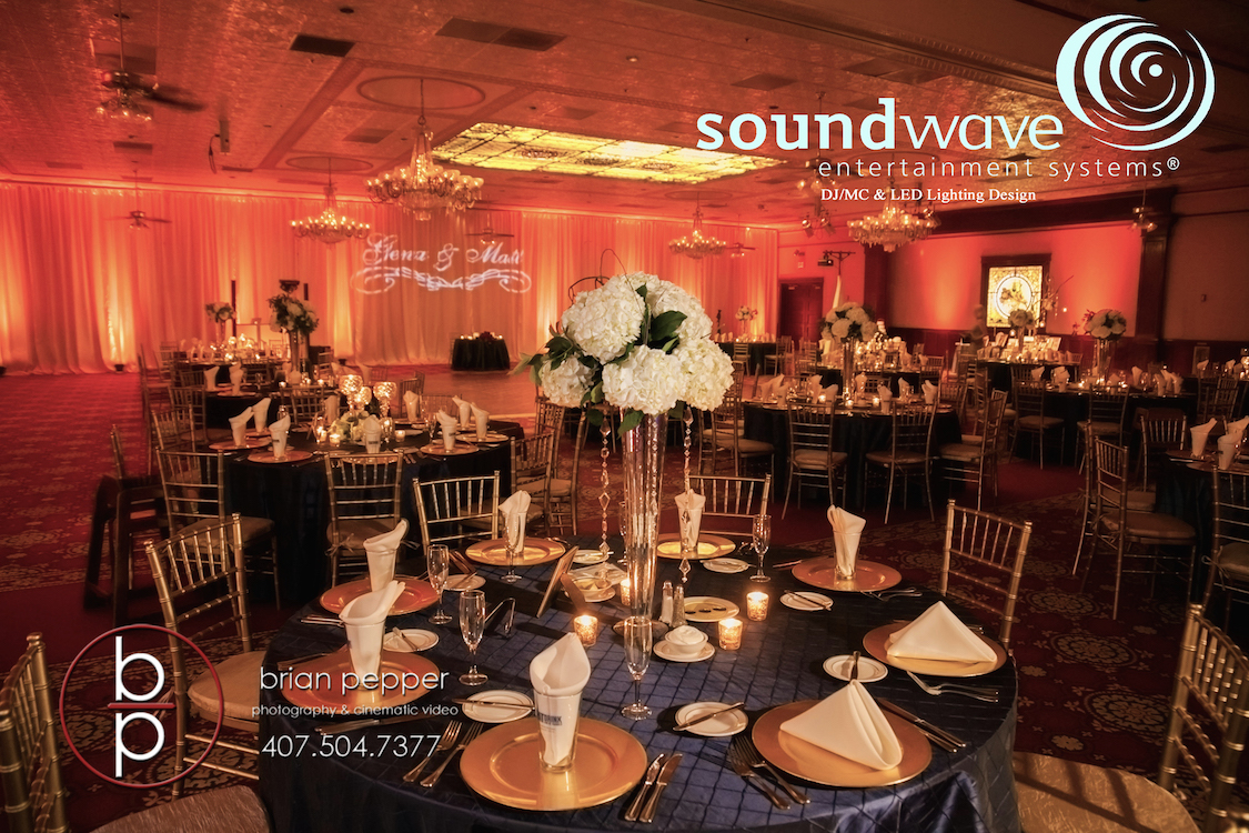 Soundwave Entertainment - Ballroom Church Street - Orlando Wedding Venues - Orlando Wedding DJs - LED Lighting Design