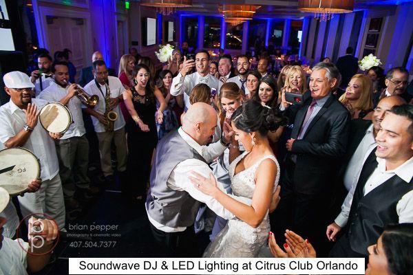 Soundwave Entertainment - Citrus Club - LED Lighting Design - Orlando Wedding Venues - Orlando Wedding DJs