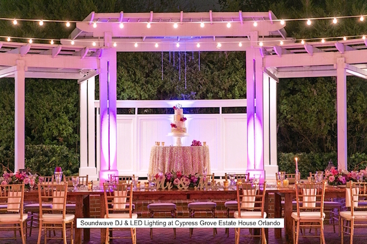 Soundwave Entertainment - Cypress Grove Estate House - Orlando Wedding DJ - LED Lighting Design - Orlando Wedding Venues