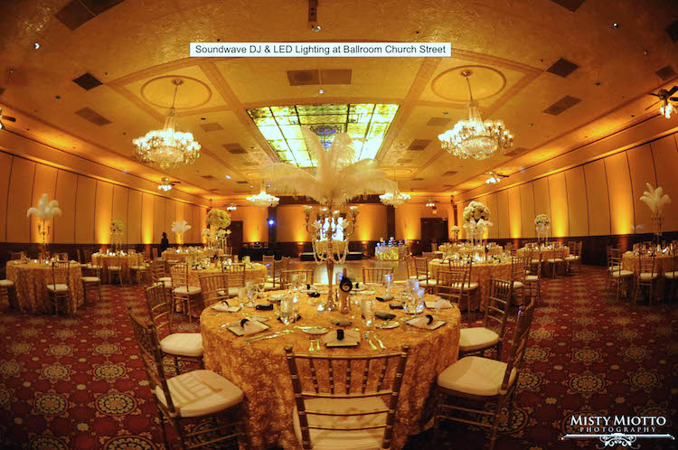 Soundwave Entertainment - Ballroom at Church Street - Orlando Wedding DJs - LED Lighting Design - Orlando Wedding Venues