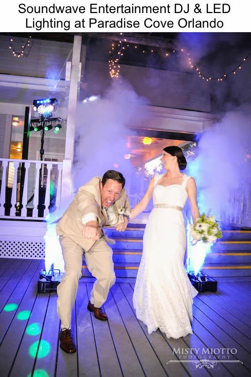 Soundwave Entertainment - Paradise Cove - Orlando Wedding DJs - Orlando Wedding Venues - LED Lighting Design