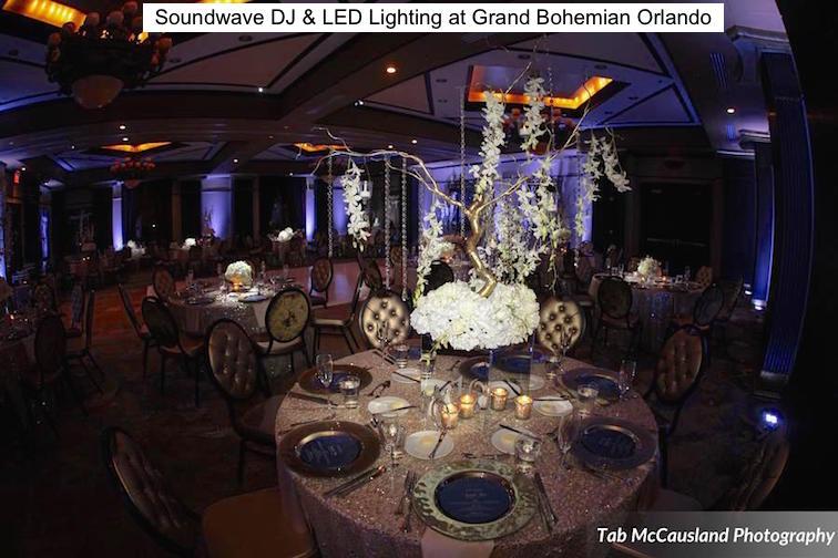 Soundwave Entertainment - Grand Bohemian Hotel Orlando - LED Lighting Design - Orlando Wedding Venues - Orlando Wedding DJ