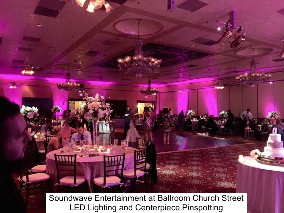 Soundwave Entertainment - Ballroom Church Street - Orlando Wedding Venues - Orlando Wedding DJs - LED Lighting Design