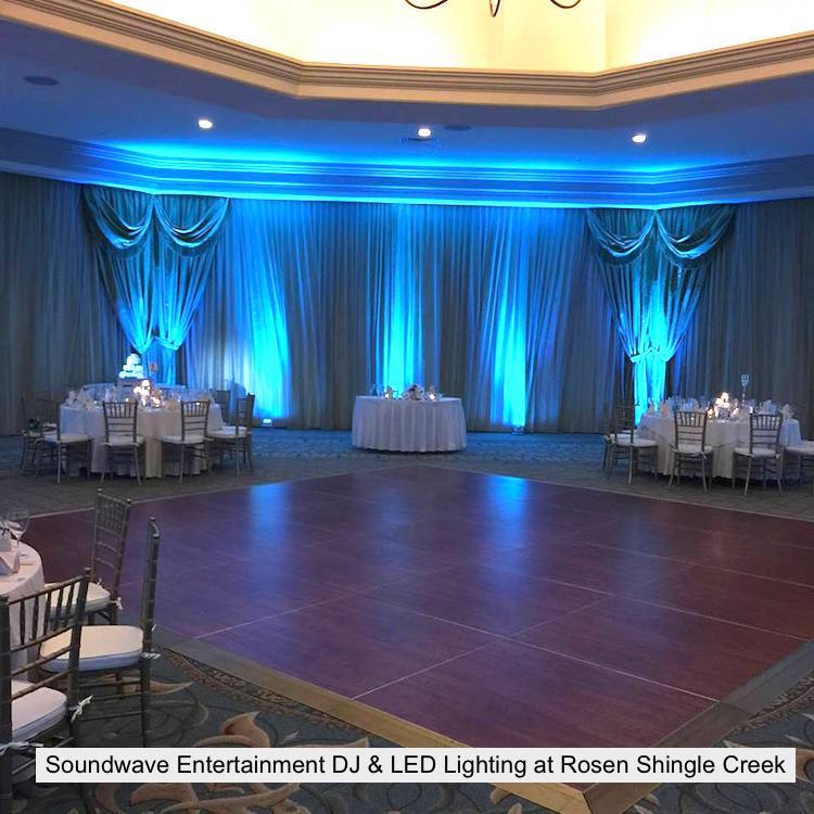 Soundwave Entertainment - Rosen Shingle Creek - Orlando Wedding DJs - LED Lighting Design - Orlando Wedding Venues