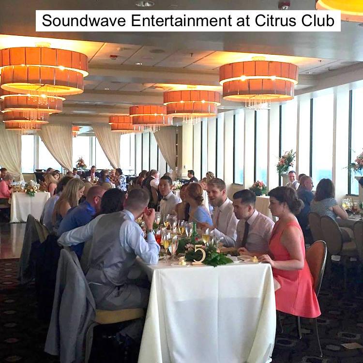 Soundwave Entertainment - Citrus Club - Orlando Wedding DJs - Orlando Wedding Venues - LED Lighting Design