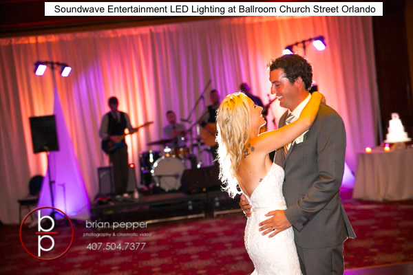 Soundwave Entertainment - Ballroom Church Street - Orlando wedding djs - LED Lighting deisign - orlando wedding venues