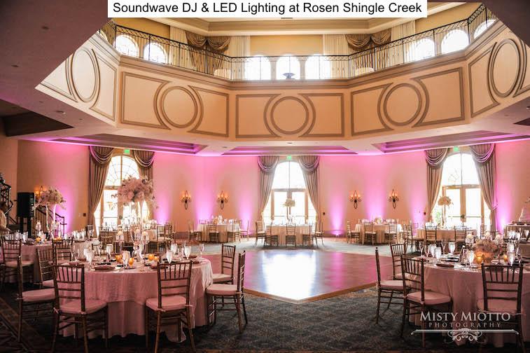 Soundwave Entertainment - Rosen Shingle Creek - Orlando Wedding Venue - LED lighting design - Orlando Wedding DJs
