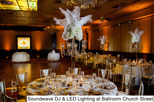 Soundwave Entertainment - Ballroom Church Street - Orlando Wedding Venues - LED Lighting Design - Orlando Wedding DJs