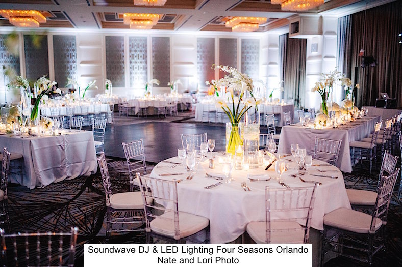 Soundwave Entertainment - Four Seasons Resort Orlando - Disney - Orlando Wedding Venues - Orlando wedding DJs - LED Lighting Design