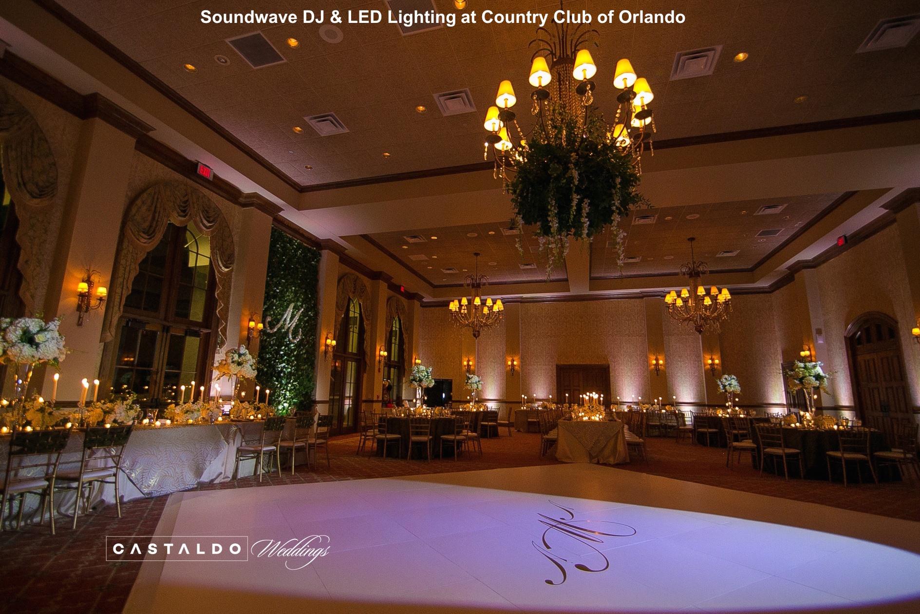 country club of orlando - orlando wedding venue - orlando wedding djs - orlando led lighting - soundwave entertainment