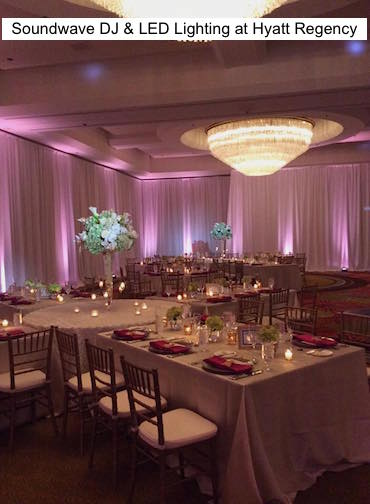 Soundwave Entertainment - Hyatt Regency Orlando - Orlando Wedding Venues - Orlando Wedding DJs - LED LIghting Design