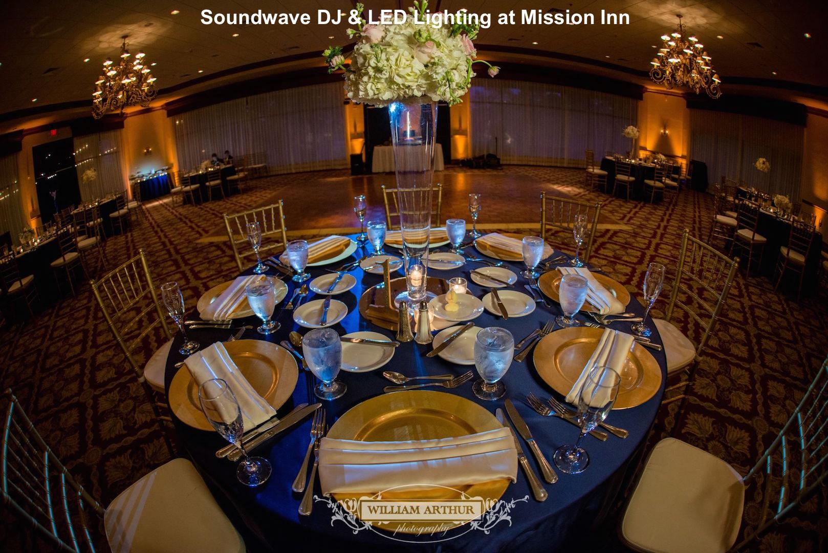 soundwave entertainment - orlando wedding dj - orlando LED Lighting - orlando wedding venue - mission inn
