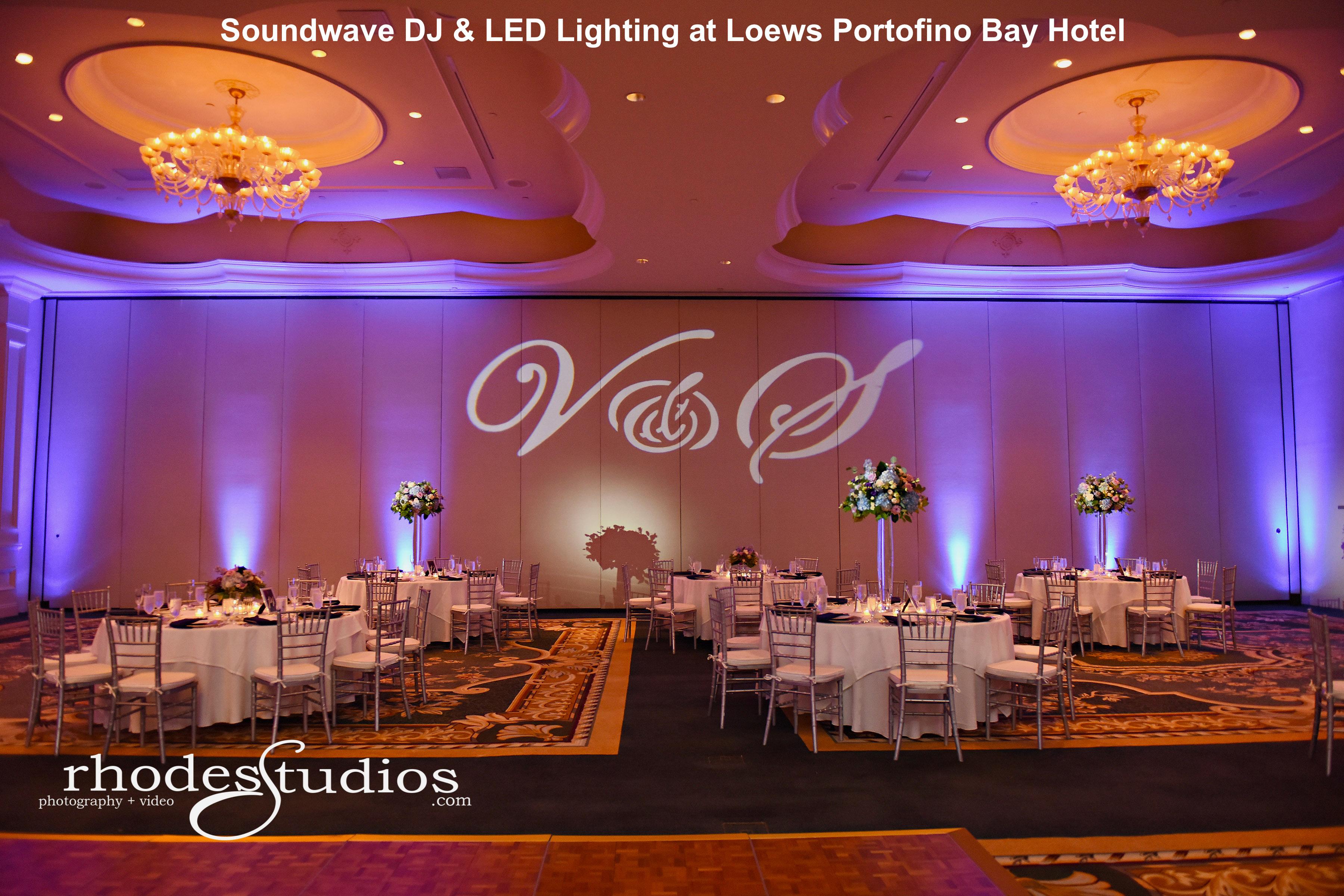 portofino bay orlando hotel - led lighting - orlando wedding dj - orlando wedding venue - orlando, fl