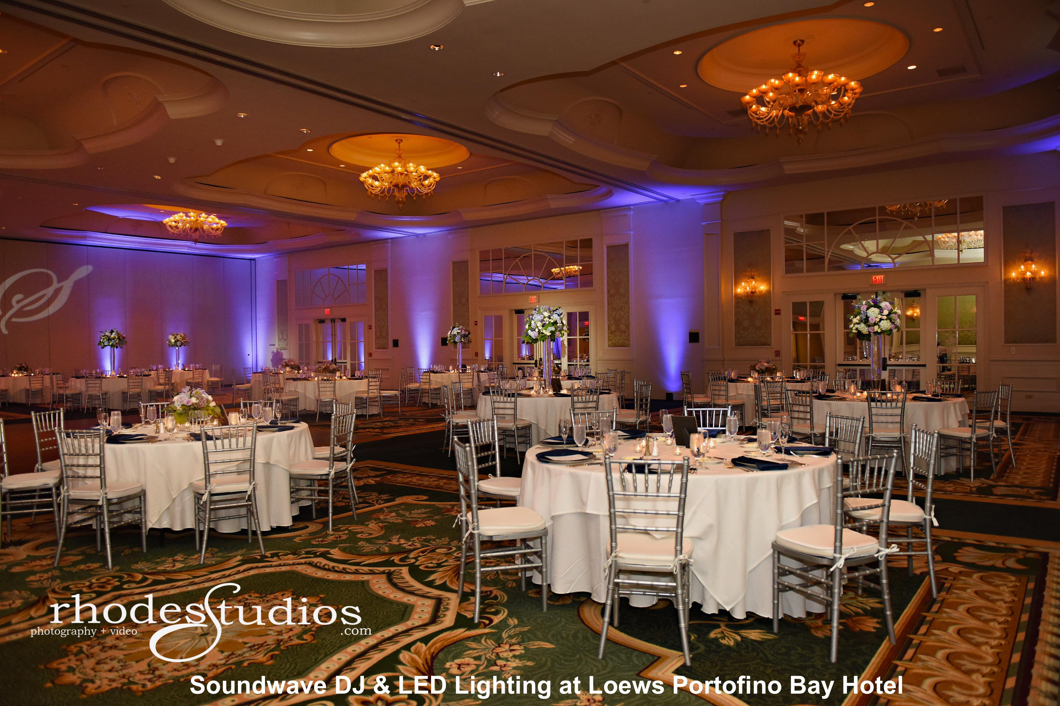 portofino bay hotel orlando - led lighting design - orlando wedding venue - orlando wedding dis - orlando, fl