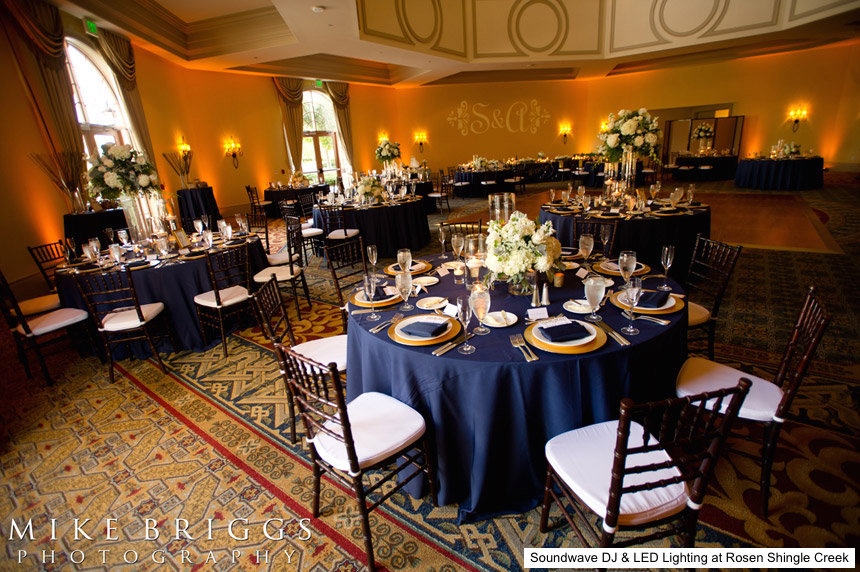 Soundwave entertainment - Rosen Shingle Creek - Led Lighting Design - Orlando wedding dis - orlando wedding venues
