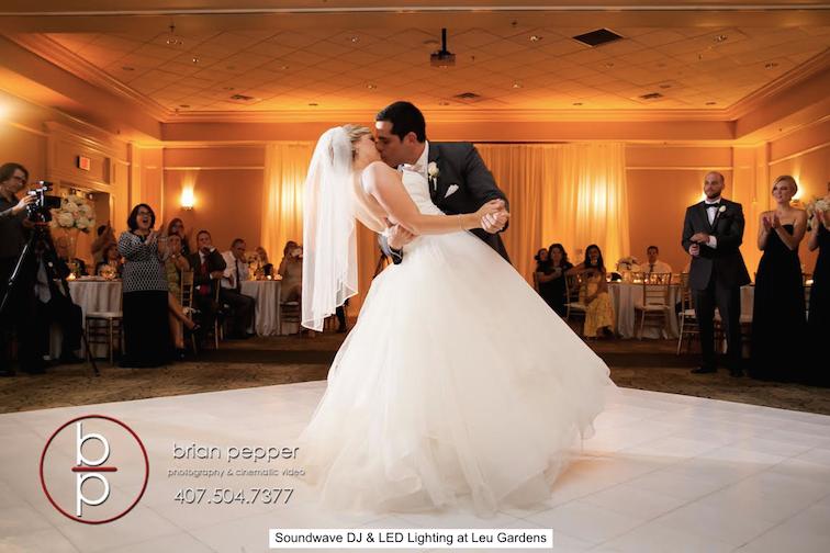 soundwave entertainment - leu gardens - orlando wedding djs - orlando wedding venues - led lighting design