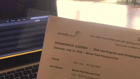 soundwave entertainment - wedding blog - winter park racquet club - orlando, fl