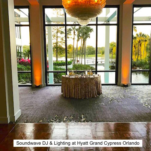 soundwave entertainment - wedding blog - hyatt regency grand cypress - orlando, fl