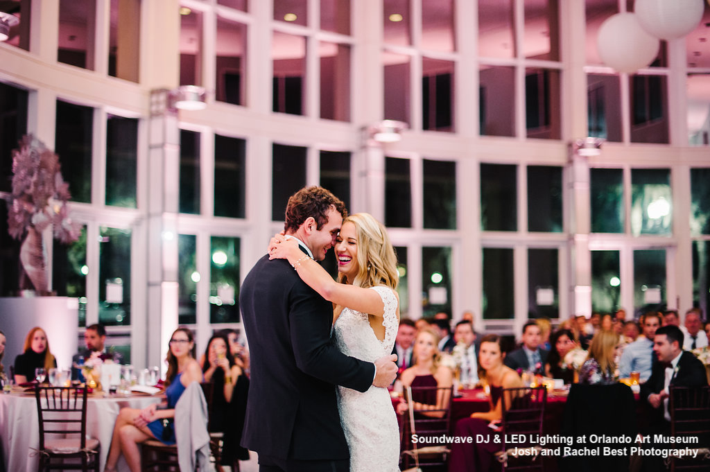 orlando art museum - wedding - orlando, fl - soundwave dj