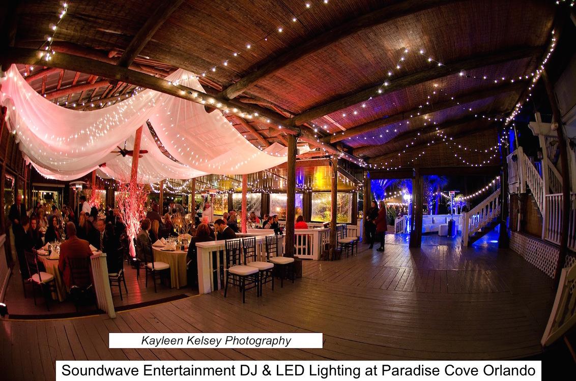 Paradise Cove Soundwave Entertainment Wedding Djs Led Lighting
