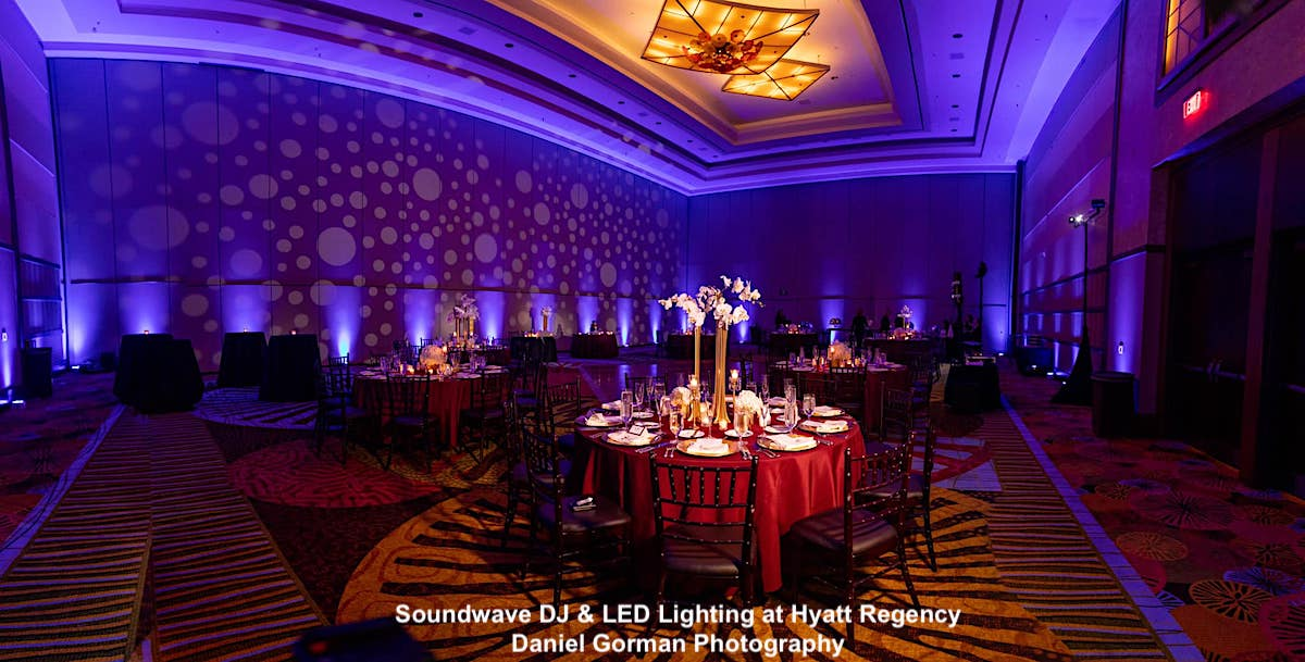 hyatt regency orlando - orlando wedding venue - orlando wedding dj - orlando wedding lighting - orlando, fl