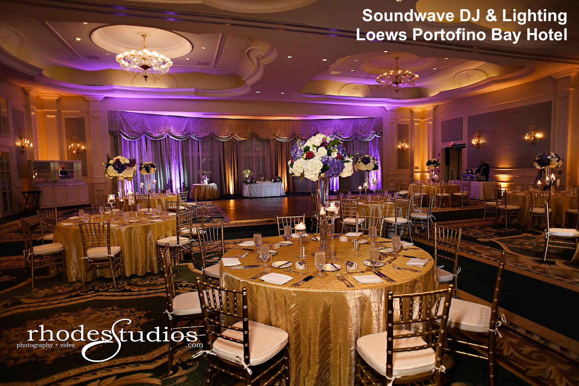 loews portofino bay hotel - orlando wedding venue - orlando wedding dj - soundwave entertainment