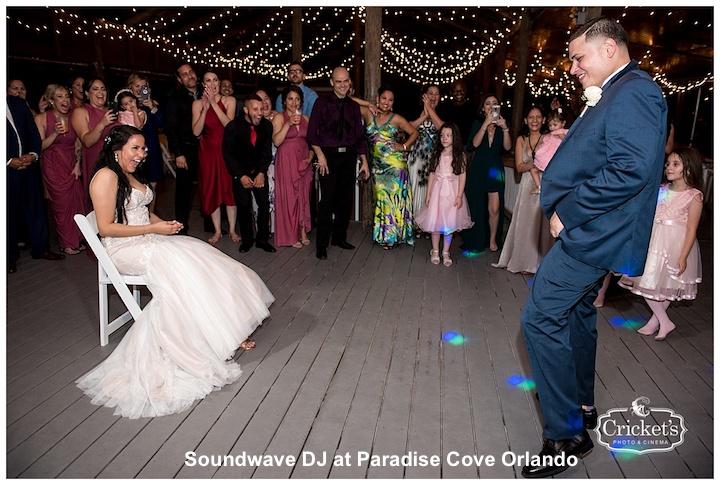 paradise cove - orlando wedding venue - soundwave entertainment - orlando, fl