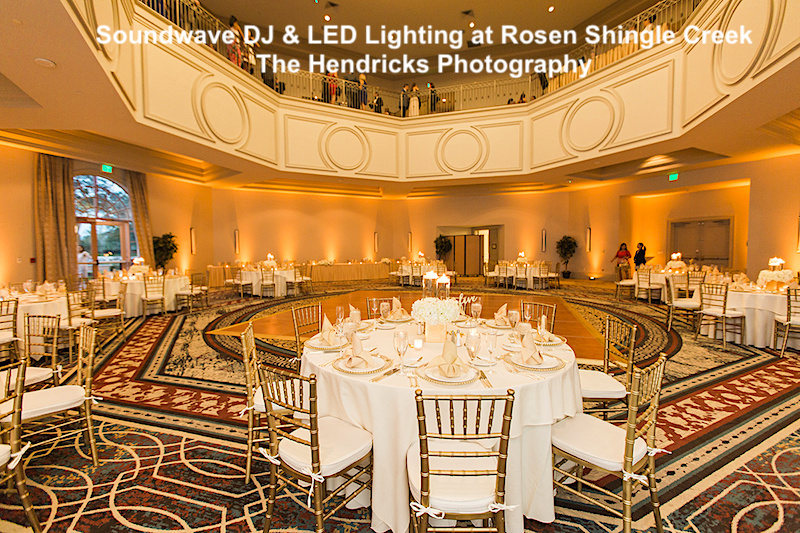 rosen shingle creek - orlando wedding venue - soundwave entertainment - orlando wedding led lighting - orlando, fl