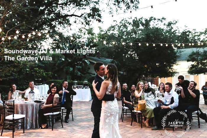 The Garden Villa - orlando wedding venue - orlando wedding lighting - orlando wedding venue - soundwave entertainment