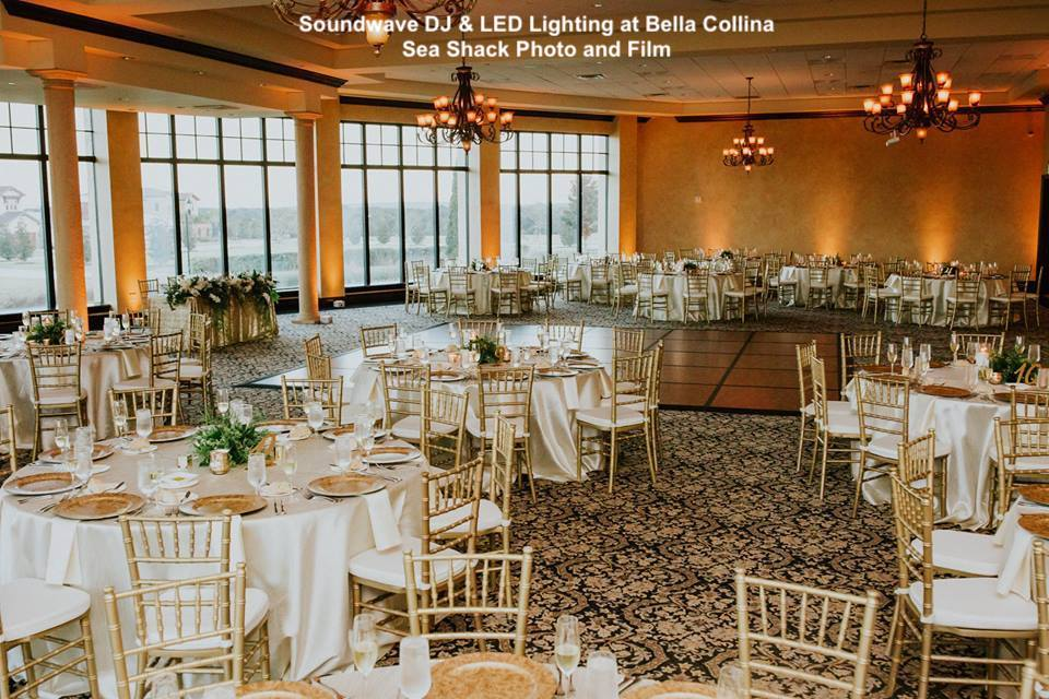 bella collina - orlando wedding venue - orlando wedding dj - orlando wedding lighting