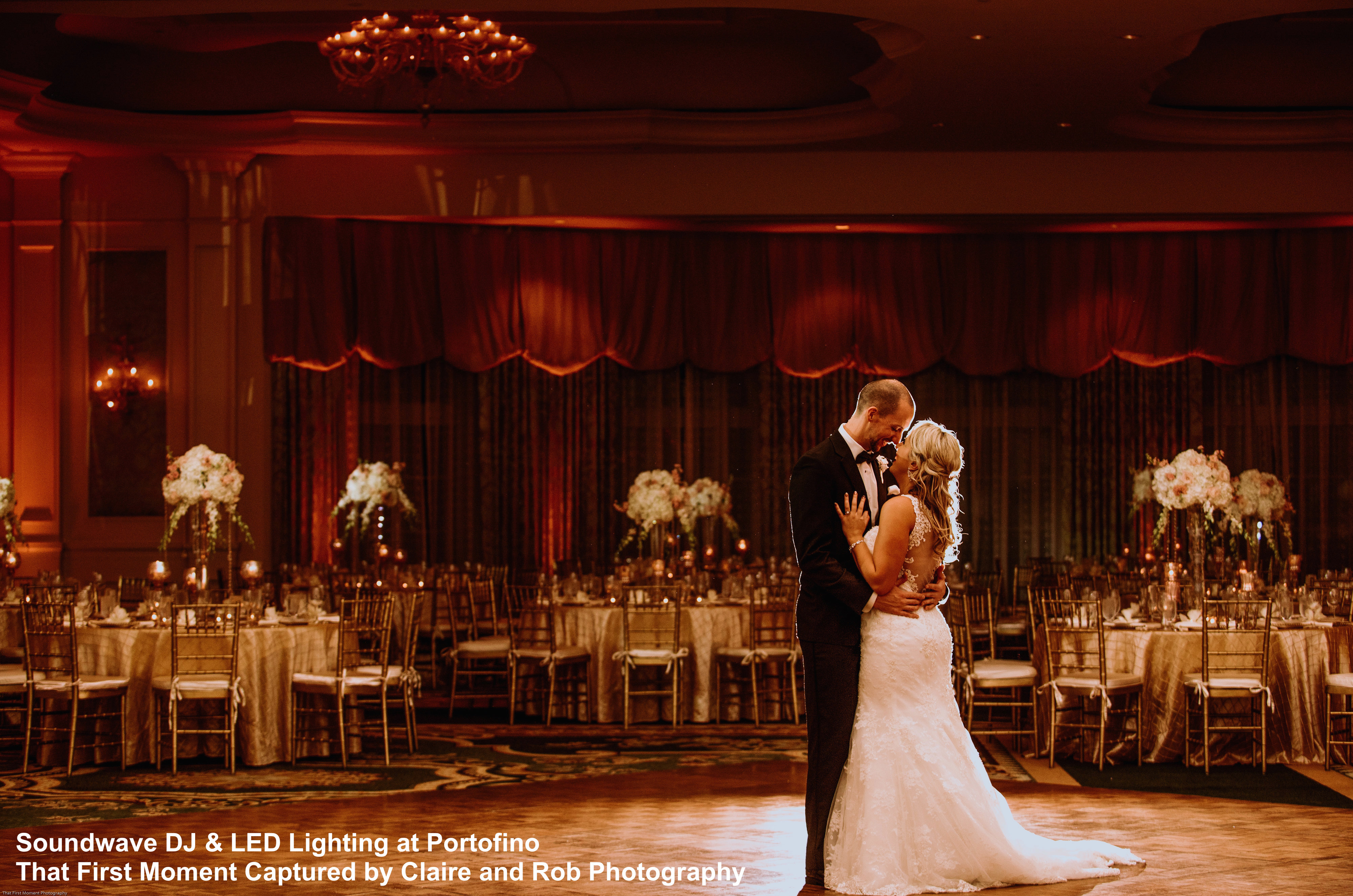 orlando wedding venue - orlando led wedding lighting - soundwave entertainment - orlando, fl