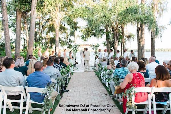 paradise cove - orlando wedding venue - orlando wedding dj - soundwave entertainment - orlando, fl