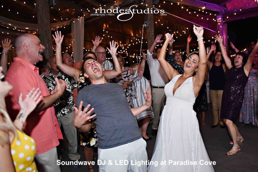 paradise cove- orlando wedding venue - orlando wedding dj - soundwave entertainment - orlando, fl
