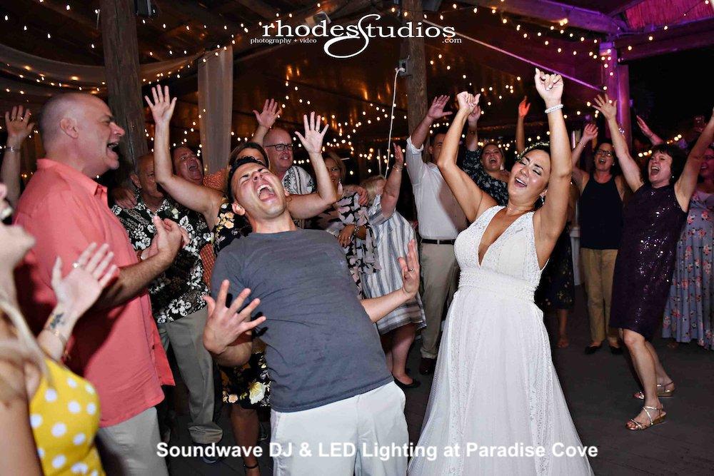 paradise cove- orlando wedding venue - orlando wedding dj - soundwave entertainment - orlando, fl