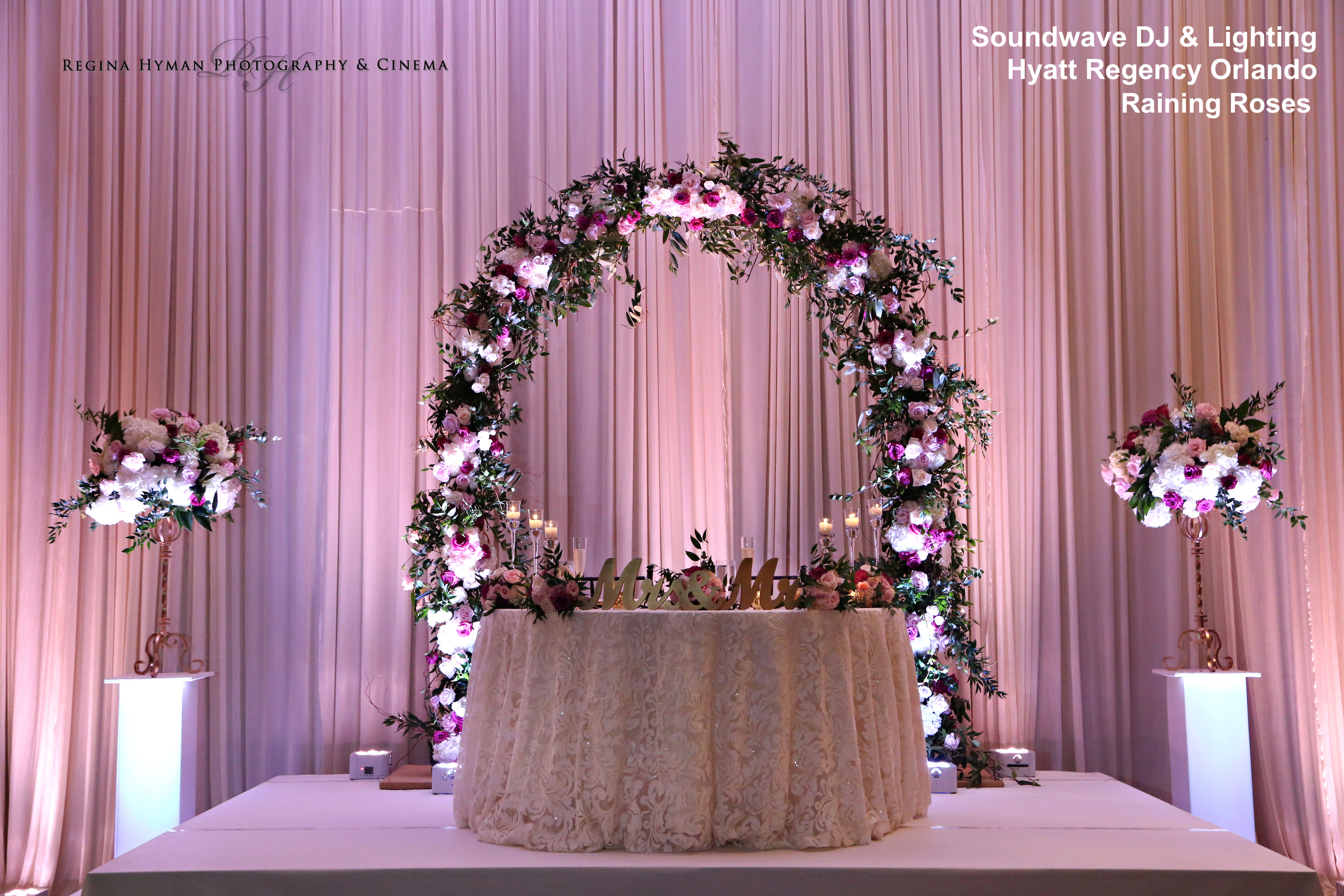 hyatt regency orlando - orlando wedding lighting - orlando wedding dj - soundwave entertainment