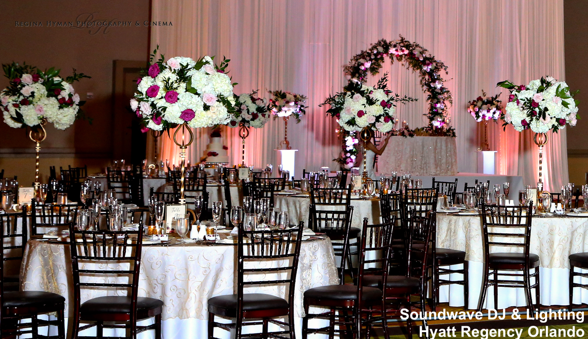 hyatt regency orlando - orlando wedding venue - orlando wedding lighting - soundwave entertainment