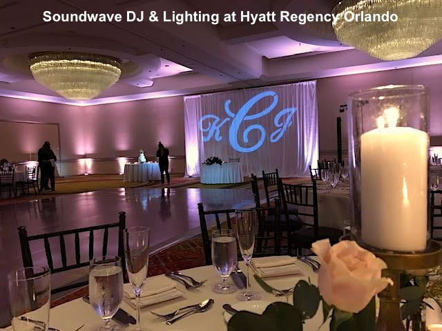 hyatt regency orlando - orlando wedding venue - orlando wedding dj - orlando wedding lighting