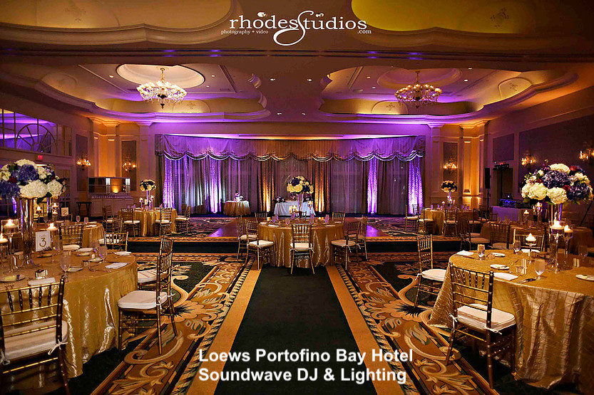 loews portofino bay hotel - orlando wedding venue - orlando wedding dj - orlando wedding lighting - soundwave entertainment