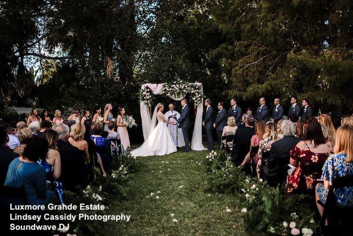 luxmore grande estate - orlando wedding venue - orlando wedding dj - soundwave entertainment - orlando, fl
