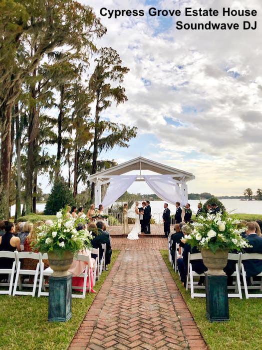 cypress grove estate house - orlando wedding venue - orlando wedding dj - soundwave entertainment